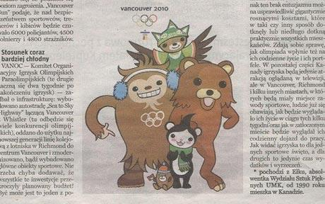 Pedobear is 2010 Vancouver Olympic mascot