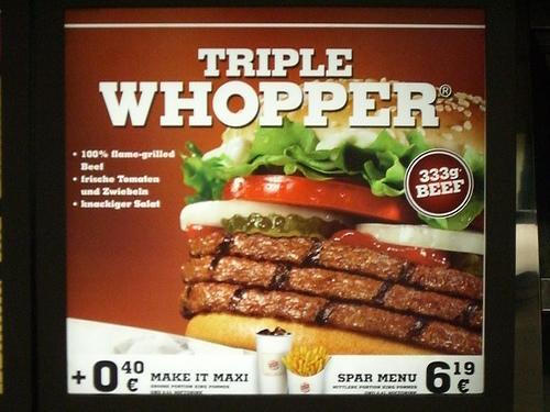 Harvey's vs McDonald's vs Wendy's vs Burger King