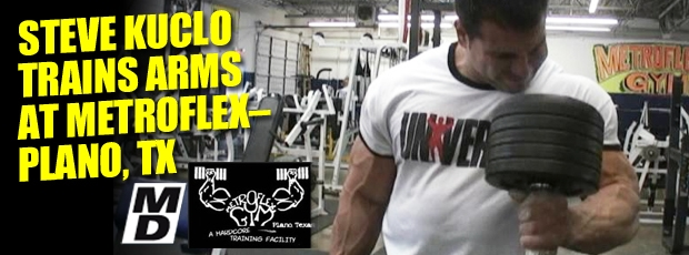Steve Kuclo trains arms - In the trenches