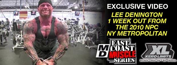 Lee Denington : 1 Week Out from the 2010 NPC NY