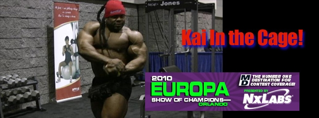 2010 Europa Pro: In the Cage with Kai Greene