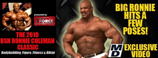 Branch & Ronnie guest posing at the 2010 NPC Ronnie Coleman Classic