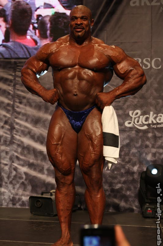 Ronnie Coleman guest posing in Slovakia, May 2010