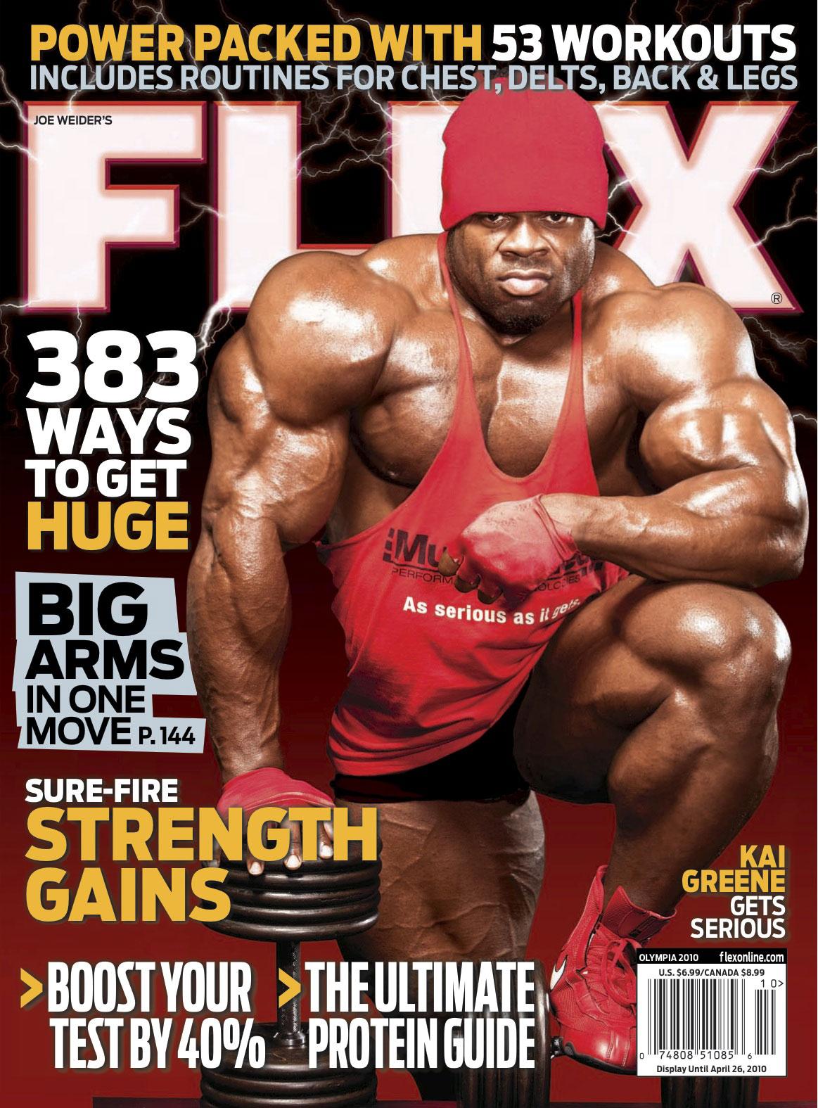 Kai on Next Cover of Flex Magazine!