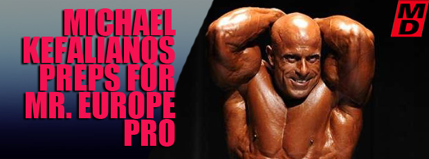 Kefalianos preps for 2010 Mr Europe Pro