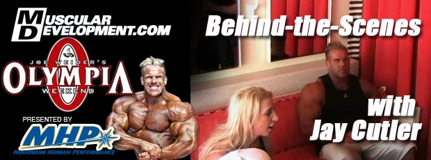 Jay Cutler Behind the Scenes at the 2010 OLympia
