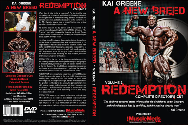 This week only! Pre-Order Kai Greene: REDEMPTION and pay no shipping!