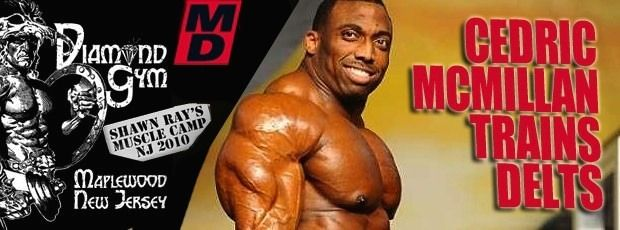 Cedric McMillan trains Delts @ 2010 Muscle Camp