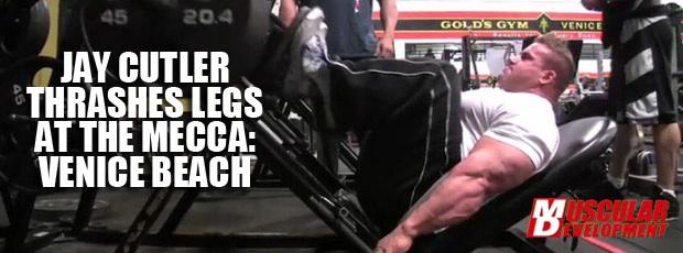 Jay Cutler Thrashes Legs in Venice Beach