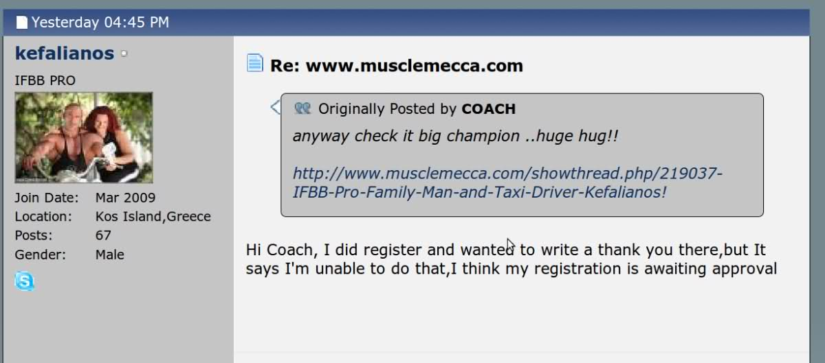 Welcome to IFBB Pros: Essa and Kefalianos to Musclemecca.com!!