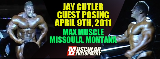 Cutler Guest Posing at Max Muscle April 9th 24 Week Out!