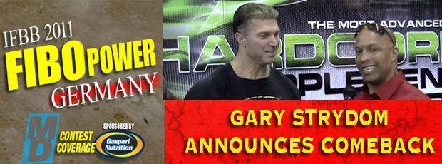 Gary Strydom announces comeback at FIBO Power Expo