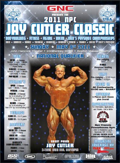 NPC Jay Cutler Classic Next Sunday 8, 2011