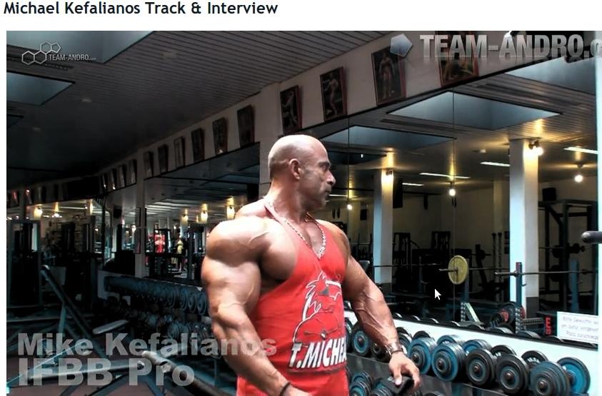 Michael Kefalianos Back Training:Olympus Fitness in Dusseldorf April 18 2011