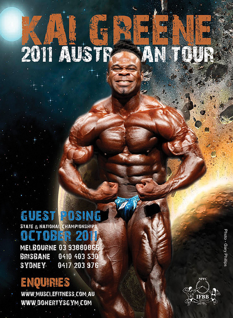 Kai Greene on an extensive tour after the Olympia: Melbourne, Brisbane and Sydney!