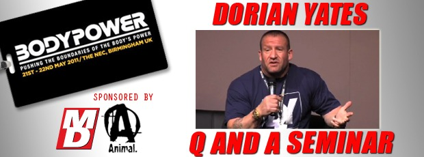 Dorian Yates Q and A Seminar from 2011 BODYPOWER