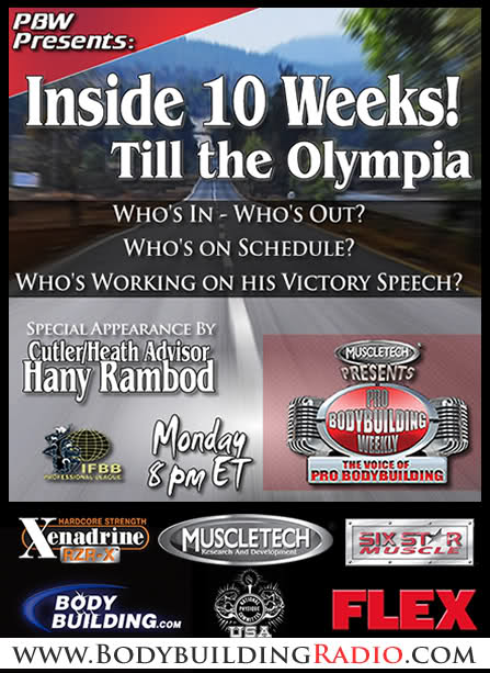 2011 Olympia (Updates) Official Thread