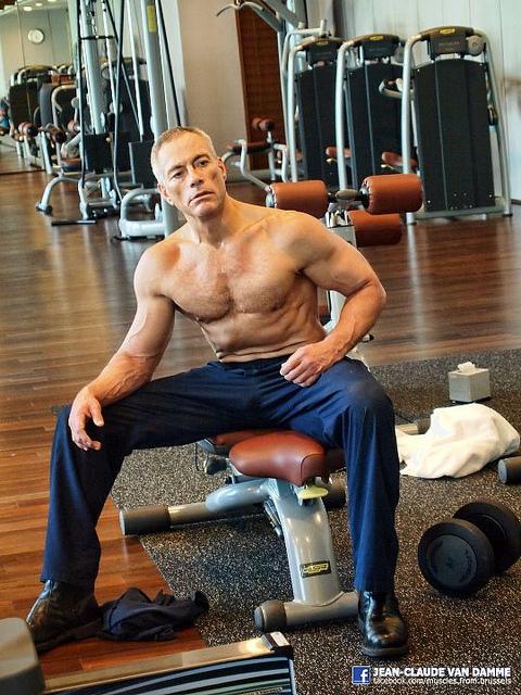 Jean-Claude Van Damme still in great shape!