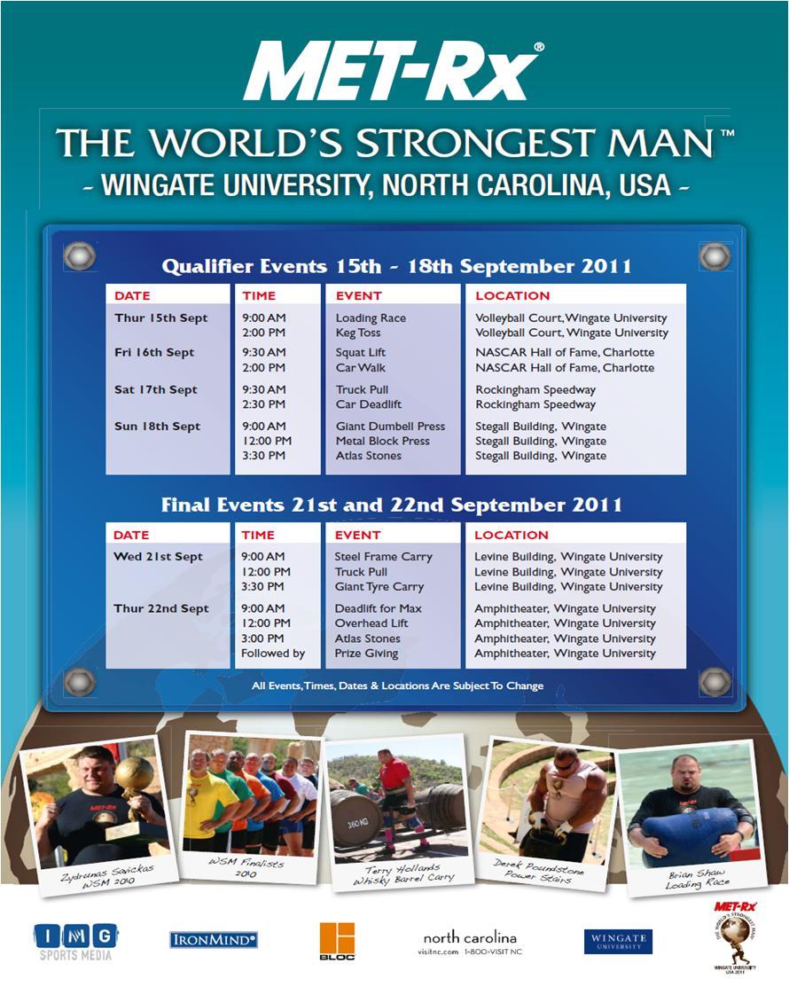Poundstone training to 2011 WSM