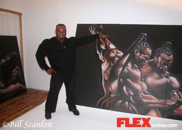 Pix from Kai Greene's art show!