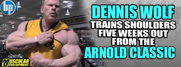 Wolf trains shoulder 5 weeks out