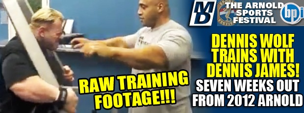 Dennis Wolf Raw Back Training Footage 7 Weeks Out