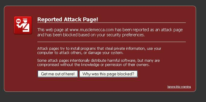 Reported Attack Page? lolwat?