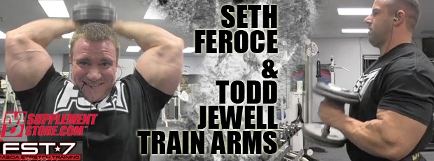 Feroce and Jewell train arms!