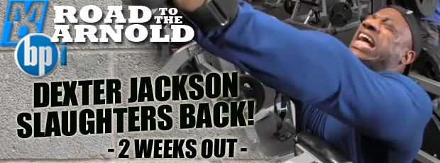 Dexter Jackson Slaughters Back 2.5 Weeks Out