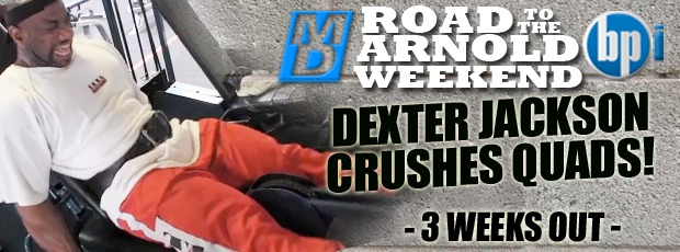 Dexter  Jackson Crushes Quads 3 Weeks Out ASC