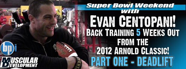 Evan Centopani trains Back