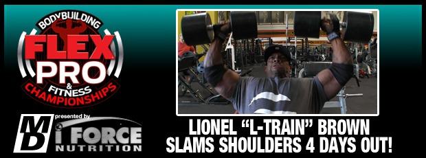 Lionel Brown shoulders 4 weeks out