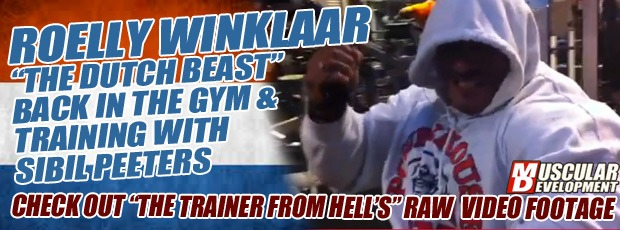 Roelly Winklaar is Back and Bundled Up in the Gym
