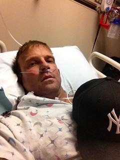 Derek Anthony in the hospital