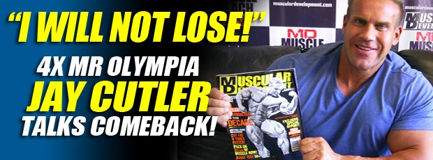 New MD Cover: Jay Cutler Bodybuilder of the decade