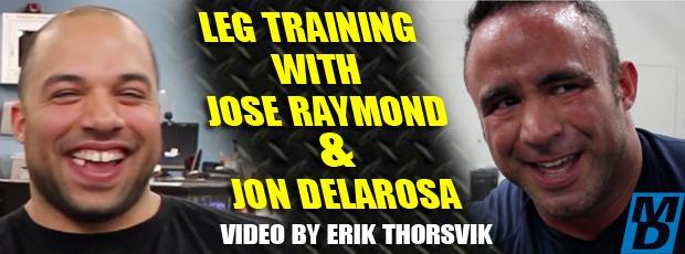 Jose Luis Dilated Raymond and John Delarosa sick leg workout!
