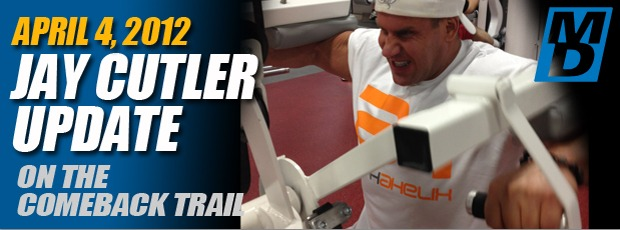 Jay Cutler Update, April 4 2012: Back in the Gym & Working Shoulders