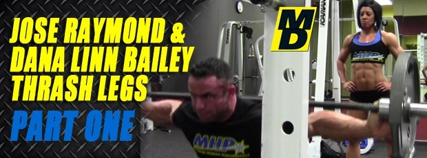 Jose Raymond and Dana Linn Bailey Train Legs