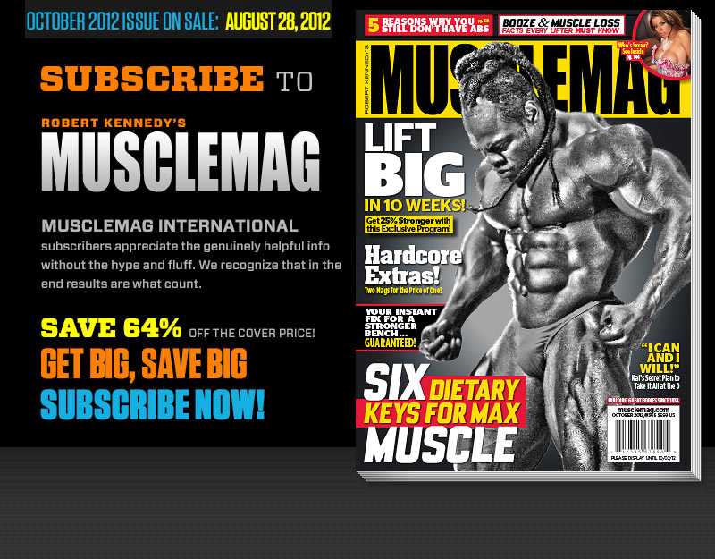 Next Musclemag Magazine October 2012 (Pre-view)