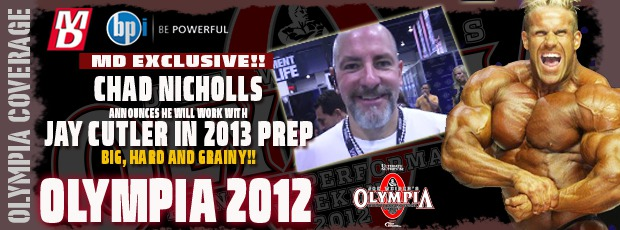Jay Cutler to work with Chad Nicholls for Olympia '13