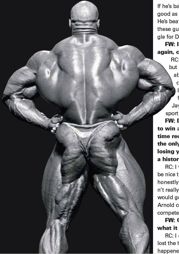 Cedric McMillan vs Ronnie Coleman (back double biceps comparison)