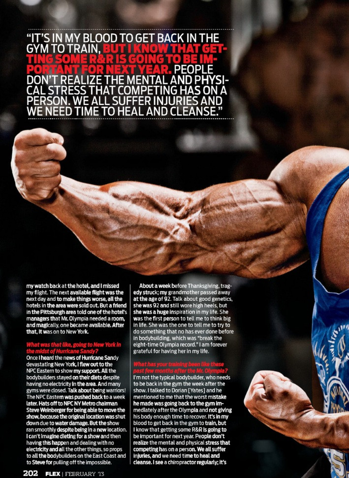 Phil Heath scans - February 2013, Flex magazine