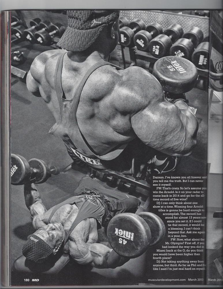 new dexter jackons 2013 magazine interview  scans