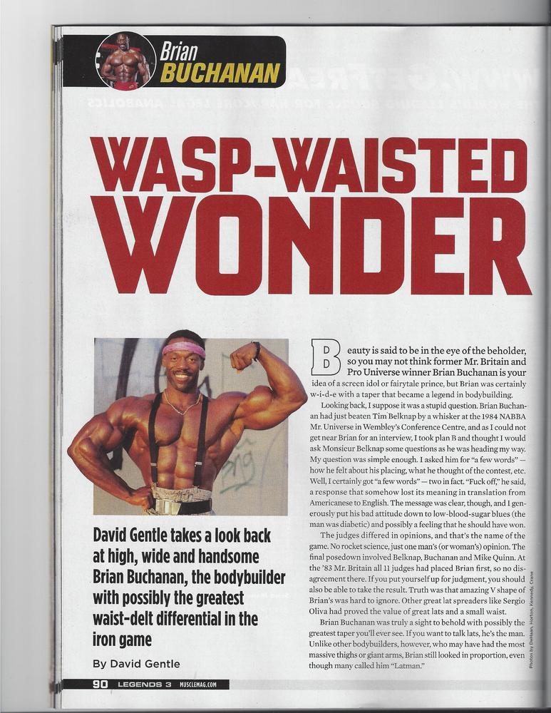 The Wasp Waisted Wonder Brian Buchanan 2013 article scans