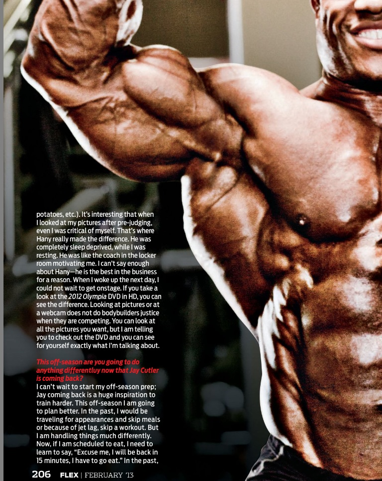 Phil Heath scans - February 2013, Flex magazine