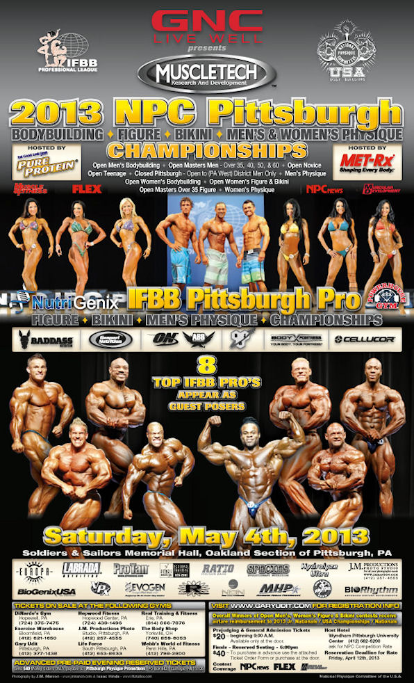 2013 NPC Pittsburgh guest posers! (Phil, Kai, Jay, Dexter, Wolf, Branch..etc)