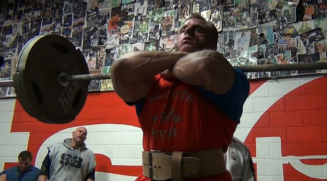John Meadows - Leg training for the 2013 Masters Nationals!