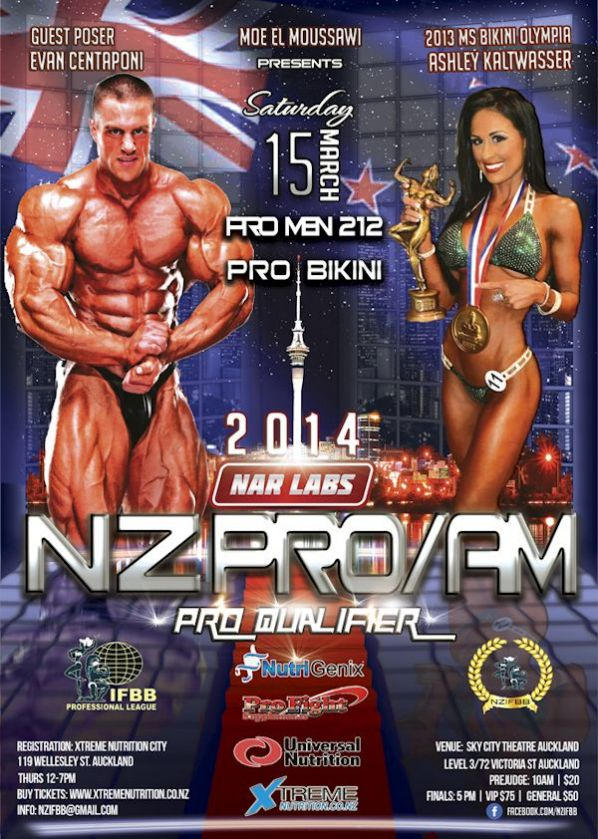2014 IFBB New Zealand Pro - 212 class (RESULTS & photos)