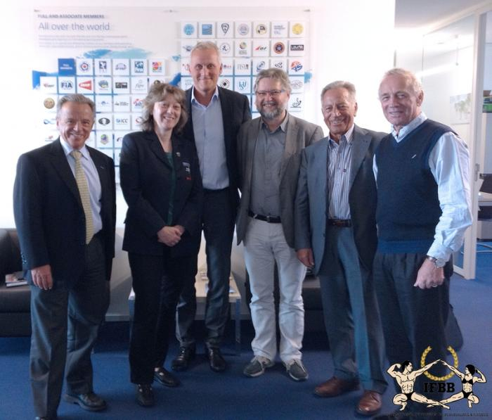 Aims meeting at the sportaccord office in lausanne