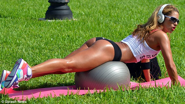 Fitness Celebrity Jennifer Nicole Lee Training in Tight Lil Black Dress